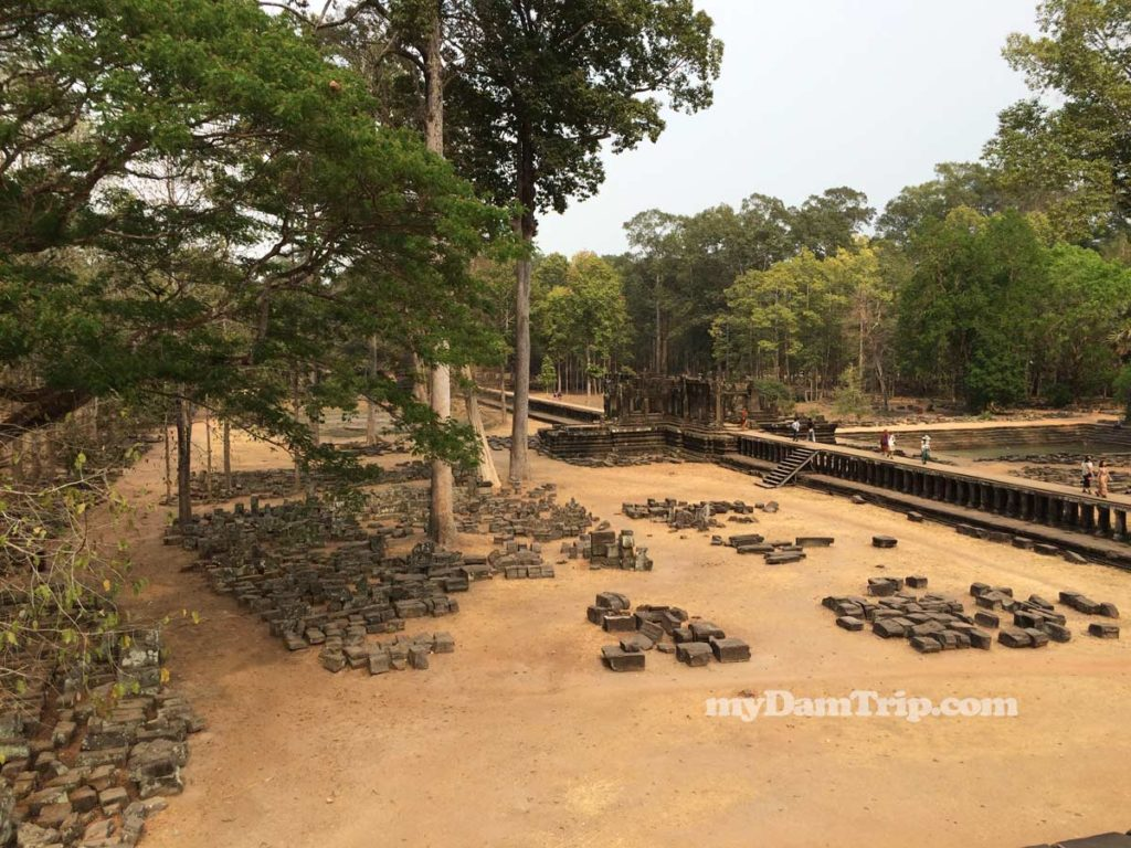 Showing Elevated Sidewalk Catwalk Angkor Thom