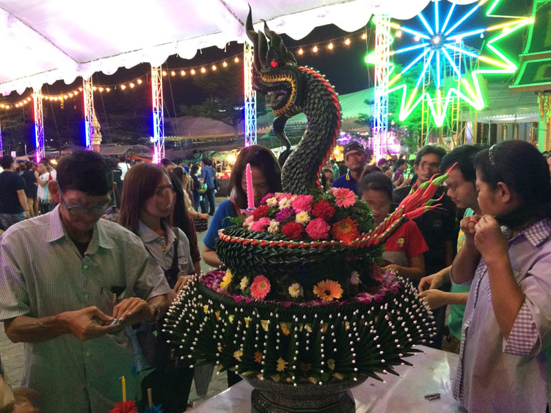 Large Krathong For Hair And Nail Clipping Offering