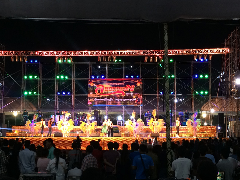 Stage At Loi Krathong Festival